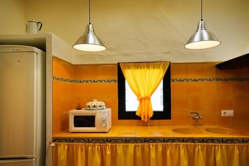 Vista detallada de la cocina