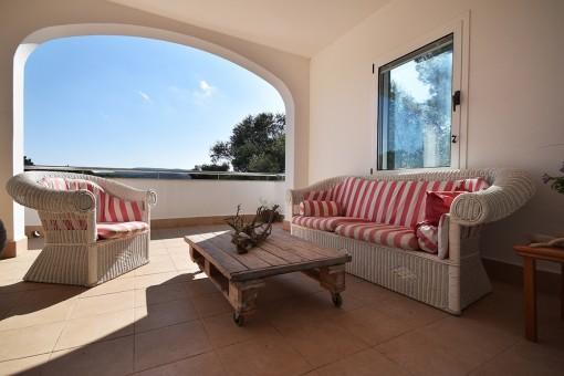 Otra perspectiva de la terraza