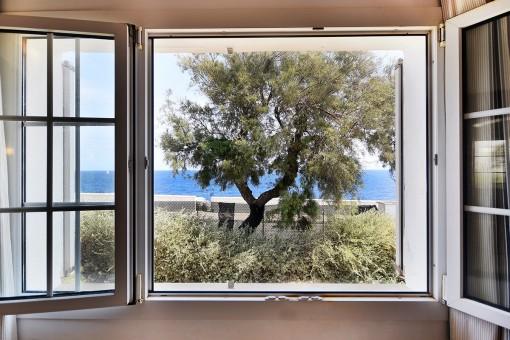 Vistas al mar mediterránea desde la villa