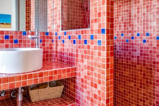 El baño de huéspedes con ducha