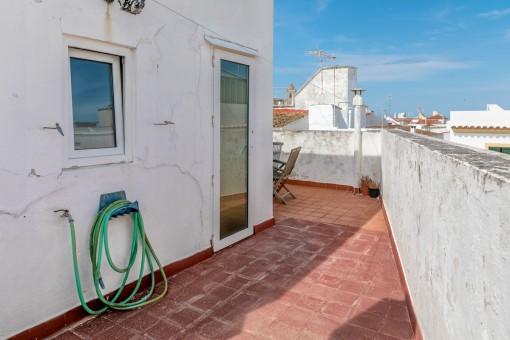 Azotea con estupendas vistas al casco antiguo