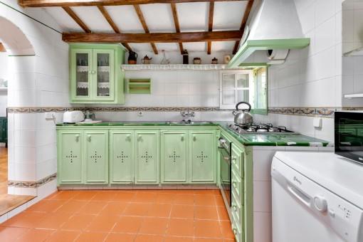 Rústica cocina totalmente equipada