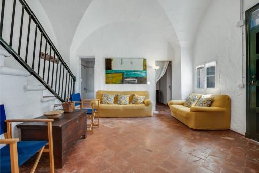 Área de estar en la entrada