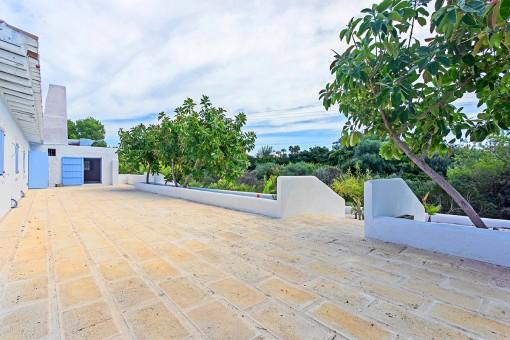 Terraza con vistas idílicas
