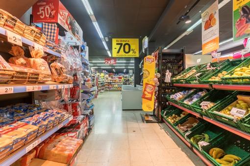 Vista del supermercado