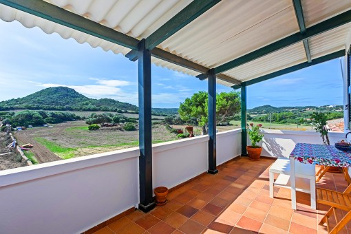 Terraza con estupendas vistas al paisaje
